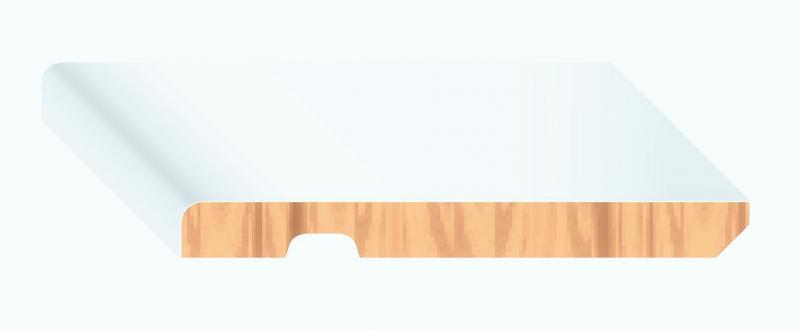 Rodapié Canto Redondo 120 Lacado blanco sobre papel melamínico